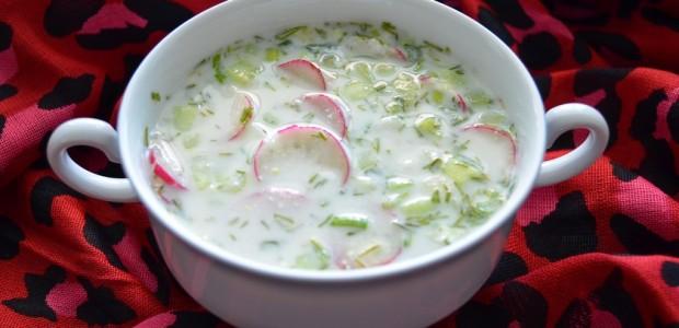 δροσερή  σούπα με κεφίρ (ακρόσκα -παραδοσιακή ρώσικη)