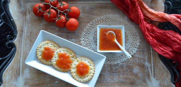 μαρμελάδα ντομάτα με ροδάκινο και τζίντζερ
